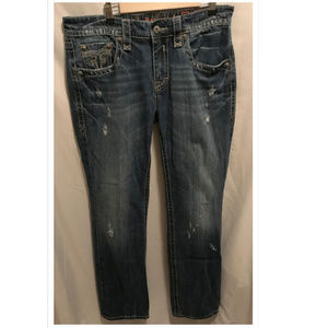 Size 36 Rock Revival Jeans Bryan Straight 36x35